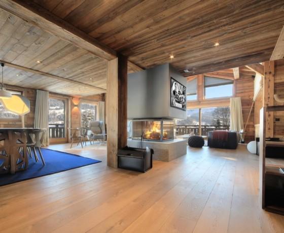 Luksusowy alpejski dom Heaven w Megeve